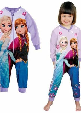Красивый яркий флисовый человечек пижама disney 2-4 года фрозен