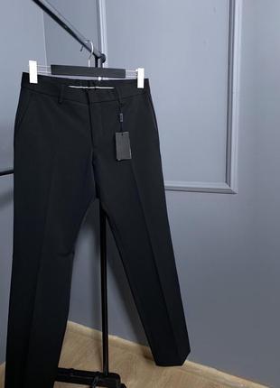 Классические подвижные чёрные эластичные премиум брюки matinique