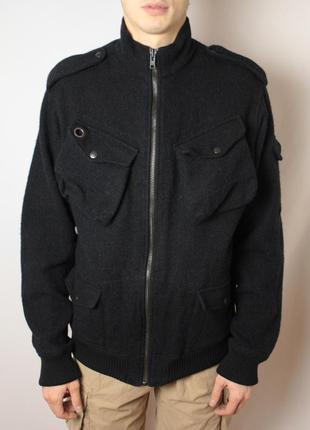 Куртка allsaints harris tweed шерстяная