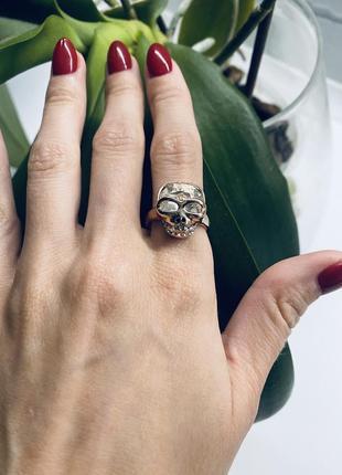 Кольцо с черепом 💀 готическое красивое кольцо в виде черепа