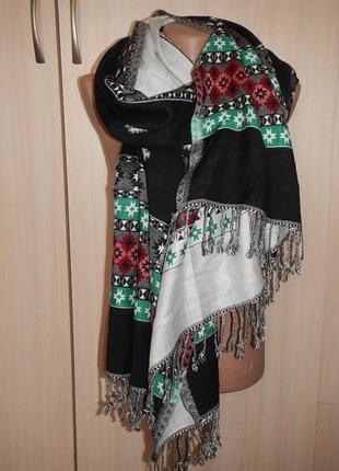 Пашмина kashmiri 70х200см палантин шарф