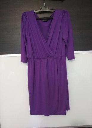Нарядное фиолетовое платье на запах dorothy perkins