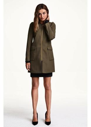 Пальто хаки hm