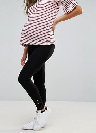 Чёрные лосины для беременных new look maternity