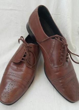Демисезонные немецкие туфли sioux 10  1/2 g р.44.5
