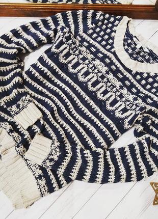 Скидки на все свитера! свитер джемпер грубой вязки из коттона