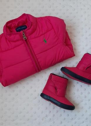 Комплект куртка+боты ralph lauren