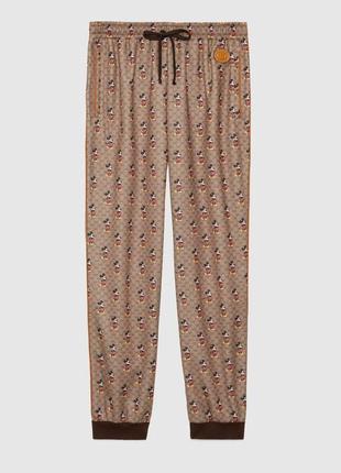 Свободные спортивные брюки с disney x gucci