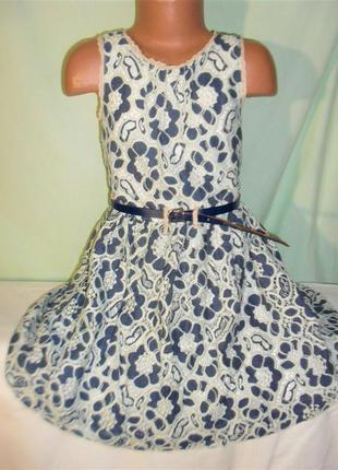 Кружевное платье на 8лет
