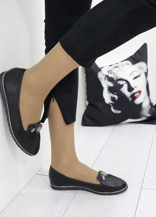 Новые шикарные женские черные туфли балетки