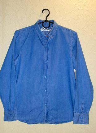 Рубашка коттоновая для мальчика 12-13лет