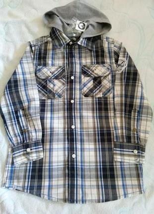Стильная и крутая рубашка на мальчика topolino размер 122