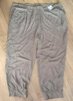 Батал! недорого! легчайшие летние брюки капри tu евроразмер 22, cм. замеры