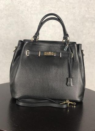 Стильная итальянская кожаная сумочка     virginia conti  (черная)