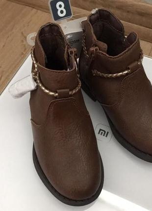 Ботинки на девочку oshkosh черевики для дівчинки демисезон деми