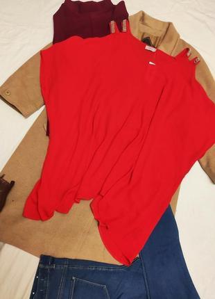 Блуза блузка большая батал оверсайз свободная с открытыми плечами новая с биркой papaya