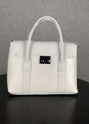 Женская кожаная сумочка из новой коллекции  (белая)