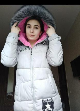 Пуховик / пальто / куртка плюс шапка в подарок
