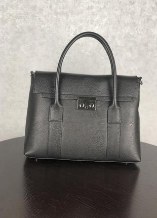 Женская кожаная сумочка из новой коллекции  (черная)