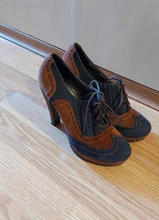 Туфли женские ботинки ботильоны замша