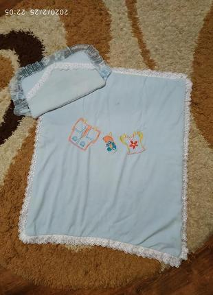 Одеяло с подушкой для ребенка до 1-1,5 лет