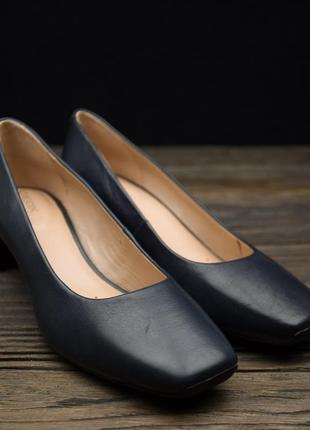 Женские дышащие синие туфли-лодочки geox vivyanne оригинал р-37