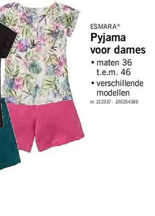 Нежнейшая пижама женская шорты футболка р. евро 36 38 s германия костюм для дома