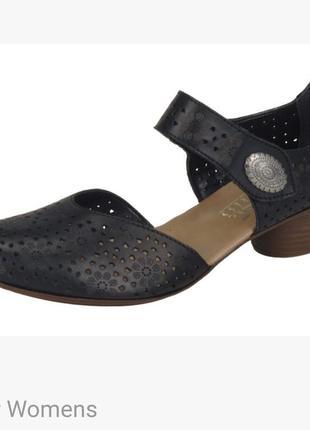 🌴 кожаные туфли босоножки rieker 🌴 р 38 германи