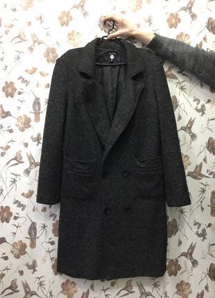 Крутое мужское шерстяное пальто boohoo