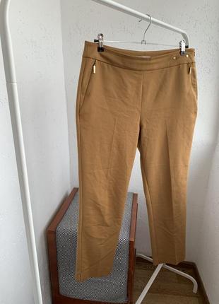 Штаны брюки прямые цвета кемаль