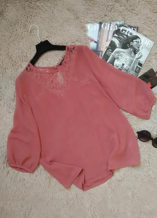 Красивая блузка с кружевом/блуза/кофточка/рубашка