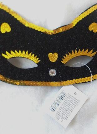 Распродажа sale маска карнавальная кошечка – новая - черный цвет