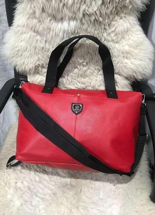 Стильная сумка для фитнеса! женская спортивная городская сумка!дорожная,эко кожа