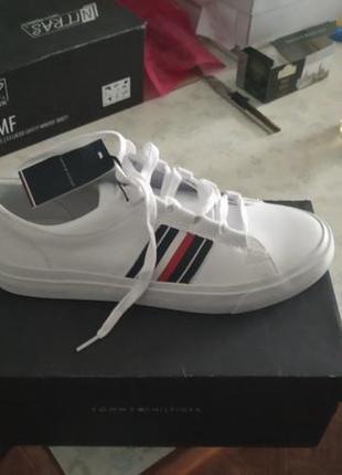 Мужские белые кожаные кеды corporate,оригинал