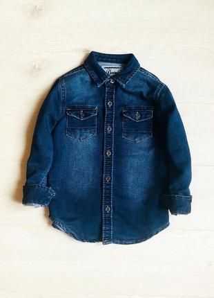 Джинсовая рубашка в наличии на 4-5 и 5-6 лет