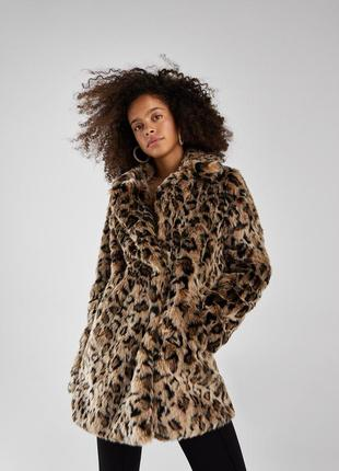 Новая леопардовая шуба bershka размер s по супер цене 🔥
