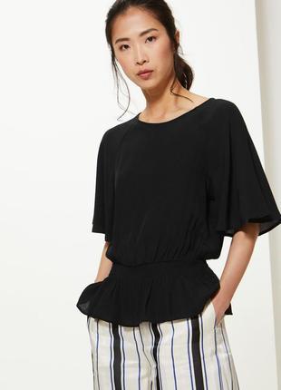 Marks&spencer универсальная базовая блуза из вискозы, р.12-40, s-m