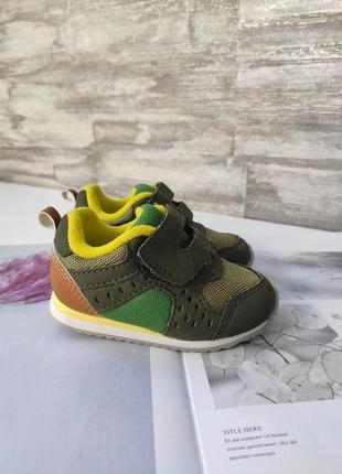 Кросівочки кольору хакі зі свтавками від h&м