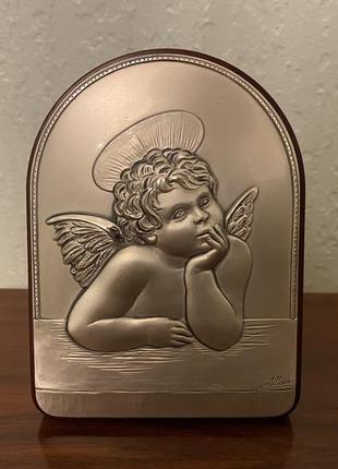 Картина из серебра 925 ангел