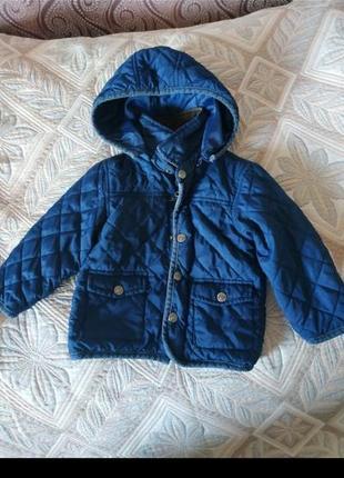 Курточка стеганая синяя на рост 86см