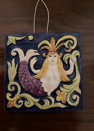 Картина плитка-изразец русалка