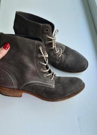 Кожаные ботинки со шнуровкой mustang