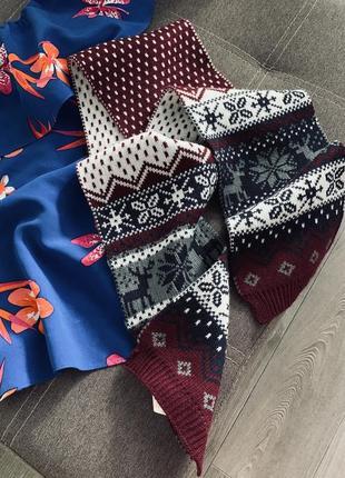 Детский шарф в орнамент