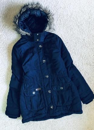 Куртка парка на синтепон фиолетовая курточка