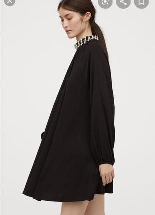 Платье свободного кроя с бусинками h&m