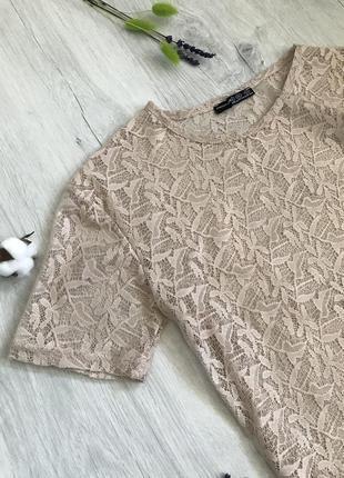Красивый кружевной топ, блуза
