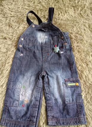 Крутой джинсовый комбинезон монстры на хлопковой подкладке