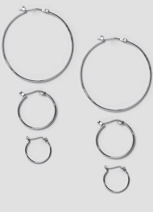 Набор серьги кольца pieces из каталога asos