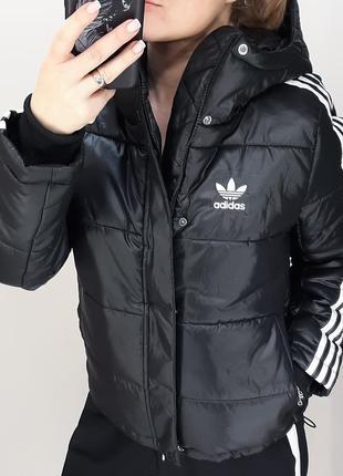 Adidas женская куртка пуфер