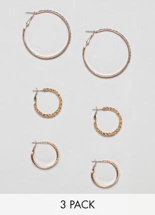 Набор серьги кольца bershka из каталога asos